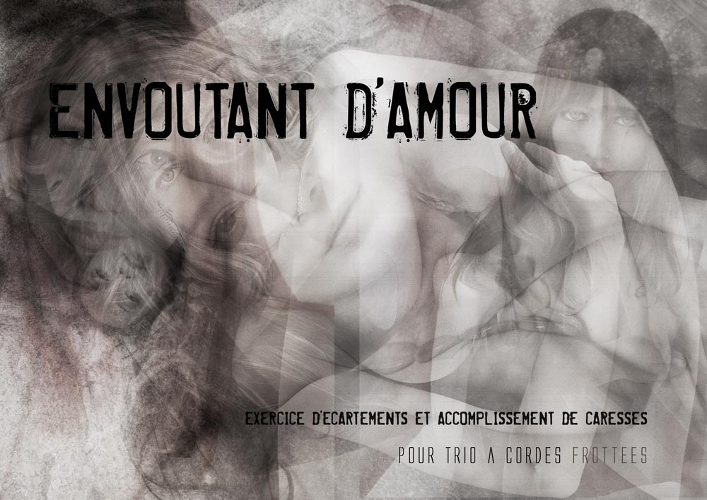 Envoûtant d'Amour, music score for strings trio cover